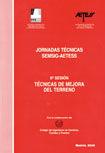 JORNADAS TECNICAS SEMSIG-AETESS, 6ª SESION: TECNICAS DE MEJORA DEL TERRENO