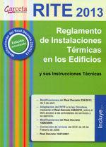 RITE 2013. REGLAMENTO DE INSTALACIONES TERMICAS