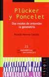 PLÜCKER Y PONCELET. DOS MODOS DE ENTENDER LA GEOMETRIA