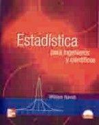 ESTADISTICA PARA INGENIEROS Y CIENTIFICOS. INCLUYE CD-ROM