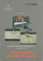 DVD DE FORMACION TECNICA Nº 2002 (1-3). FLEXION SIMPLE EN HORMIGON ARMADO